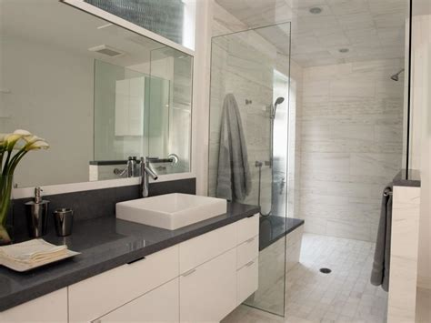 White Modern Bathrooms Contemporary White Bathroom Christopher Grubb Hgtv