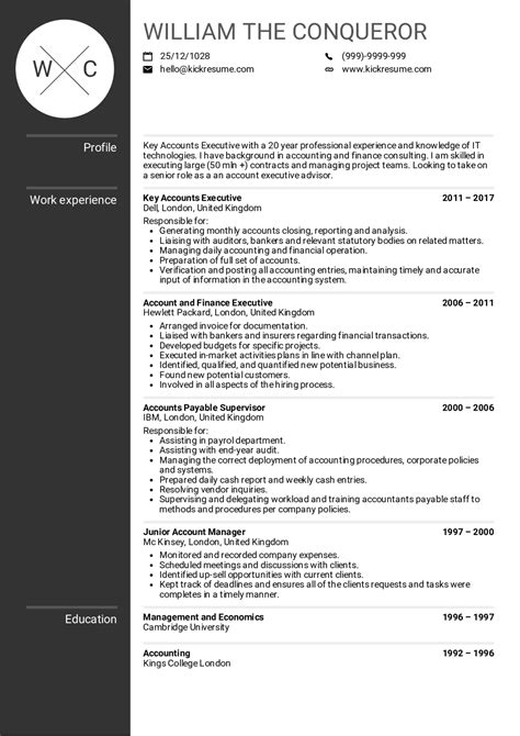 account manager resume strikingly account manager resume astounding