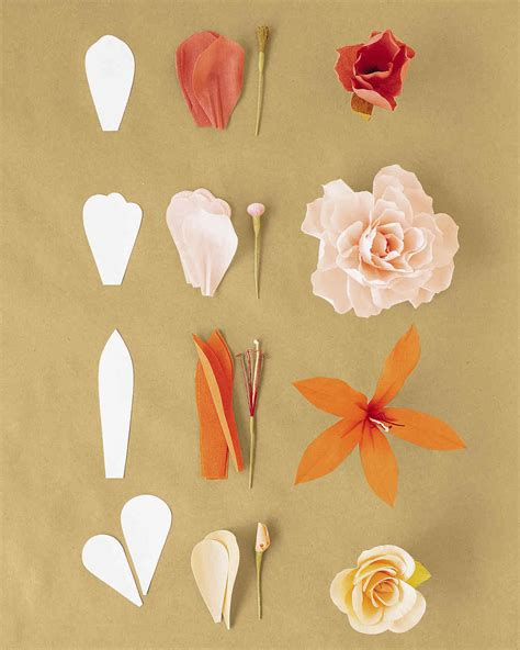 How To Make Flowers Out Of Crepe Paper - how to make crepe paper flowers martha stewart