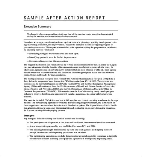 After Report Template
