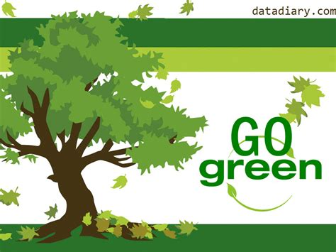 go green landscaping world environment day data diary