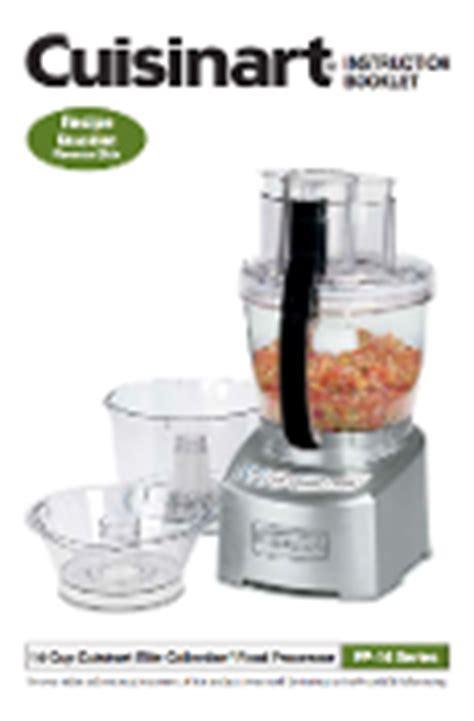 Cuisinart Fp 14dc Food Processor Manual Download