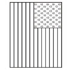 american flag coloring pages american flag printable coloring page nuttin but preschool