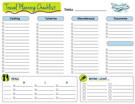 printable travel planner pages 6 best images of 2013 school planner printable cute