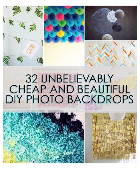unbelievably cheap  beautiful diy photo backdrops