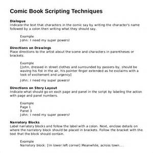 comic book script template 11 script writing templates free sle exle format