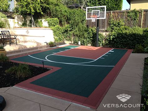 Small Backyard Basketball Court by Versacourt Indoor Outdoor Backyard Basketball Courts