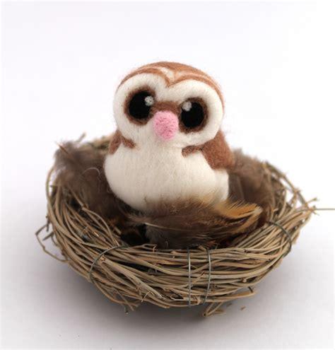 Papermau Barn Owl Miniature Paper - mini barn owl in beige folksy
