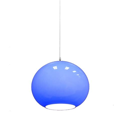 Vistosi Hanging Blue Murano Glass Globe Light Fixture Murano Glass Light Fixture