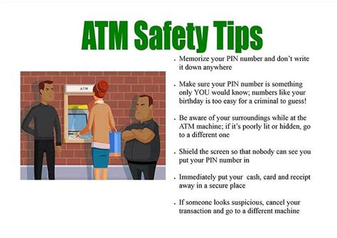 Tips From Bank by Atm Safety Tips Thebaynet Thebaynet Articles
