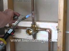 shower valve replacement brass in installation