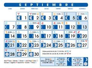 Calendario Lunar 2015 Calendario Lunar Septiembre De 2015