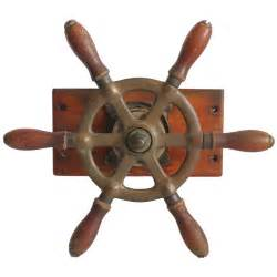 Vintage Steering Wheels For Boats Vintage Brass And Wood Boat Steering Wheel At 1stdibs