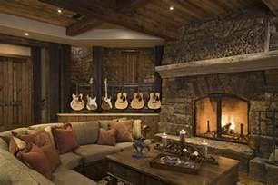 rustic home decorating ideas living room rustic house design in western style ontario residence