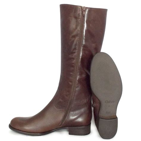 brown knee high boots gabor boots astoria knee high boots in brown mozimo