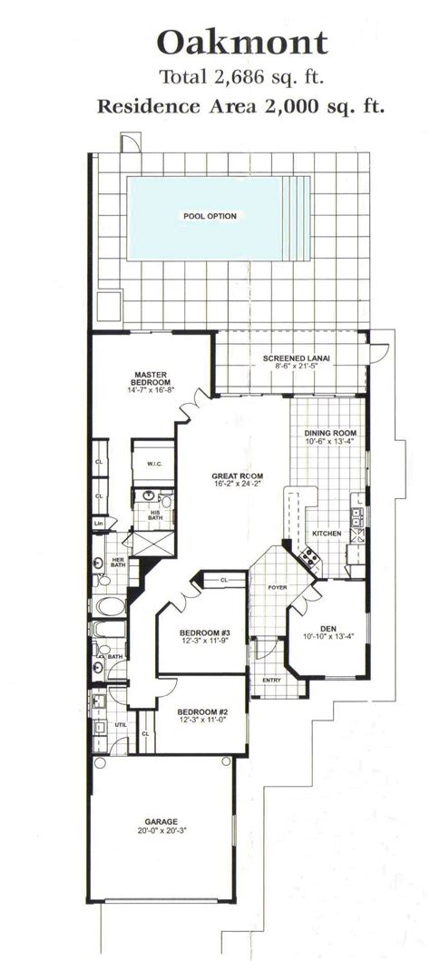 floor plane divosta homes oakmont floor plan home design and style