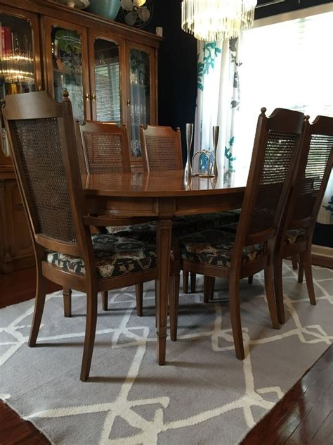 beautiful antique century furniture dining room table and