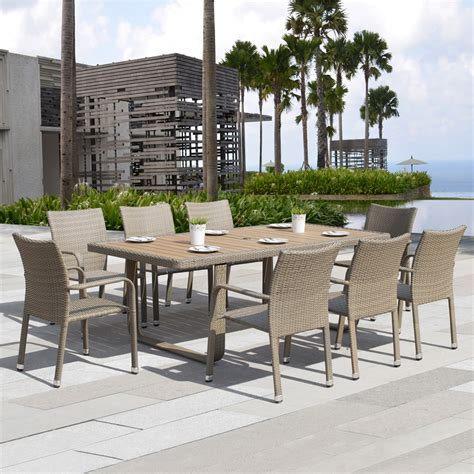 starsong ds ashena  piece outdoor dining set lowes canada