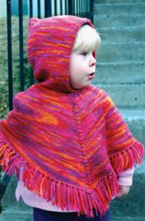 patterns for children knitting books halcyon yarn children s hooded poncho by knitting pure and simple
