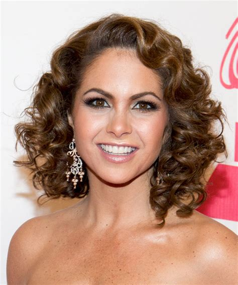 Lucero Medium Curly Formal Hairstyle
