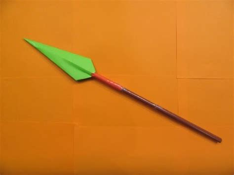 How To Make A Paper Spear - how to make a paper spear easy tutorials