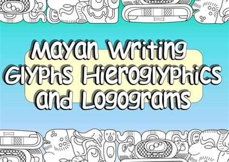 complete middle learn beginner hieroglyphs complete language courses books ks2 mayan glyphs and mayan hieroglyphics plus mayan