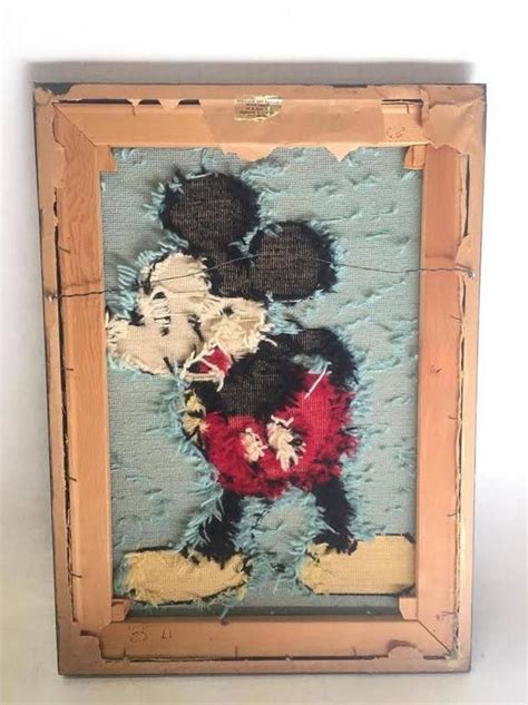 Sale Vintage The Side Of Mickey Mouse Wall Dekorasi 3 framed mickey mouse disney needlepoint artwork for sale at 1stdibs