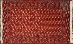 Old Rug Semi Antique Tekke Carpet Handmade From Made In