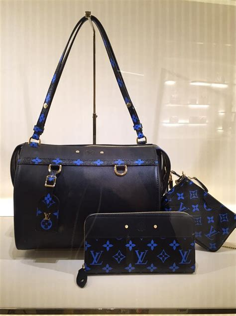 closer  louis vuitton blue monogram canvas bag