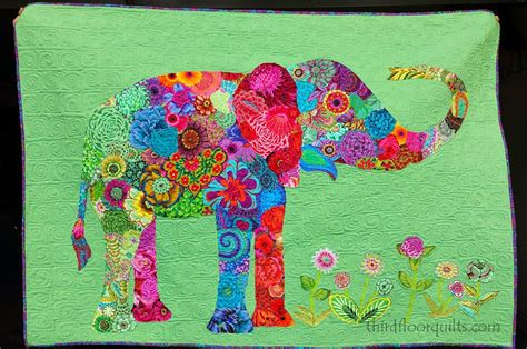 Elephant Quilt Patterns by An Elephant In The Room At Least In Textiles A Bright