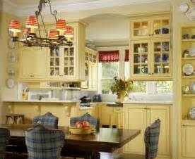 Blue And Yellow Kitchen Curtains Decorating Chic And Inviting Country Kitchen Interiors