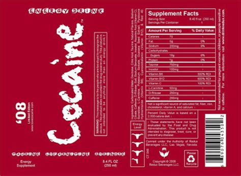energy drink labels up america cocaine coming to a store near you