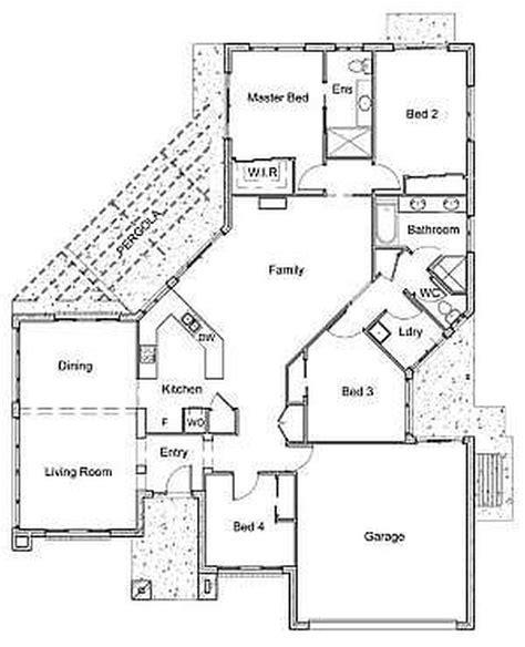 amazing floor plans 100 4 bedroom one story house plans home design