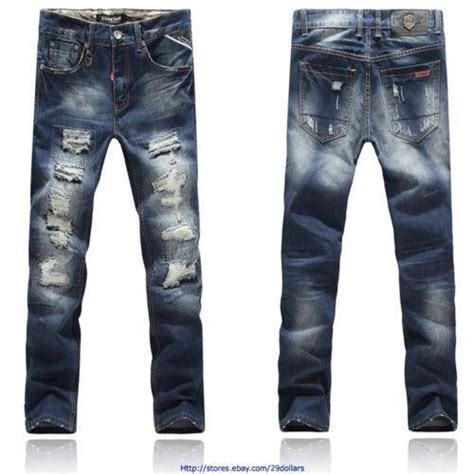 Riped Overall Darked Ripped Wd distressed for jean yu