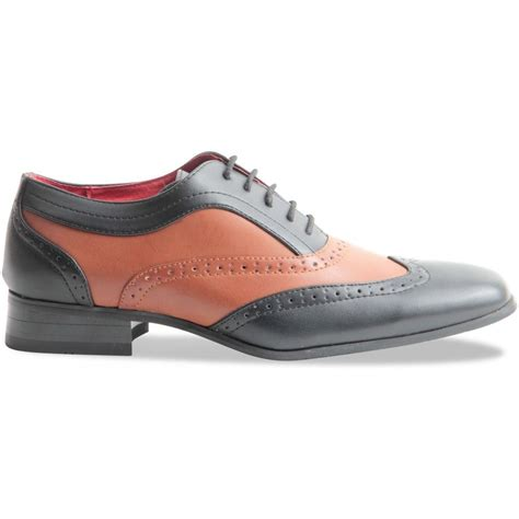 two tone mens oxford shoes spectator two tone black brown matte wingtip brogue