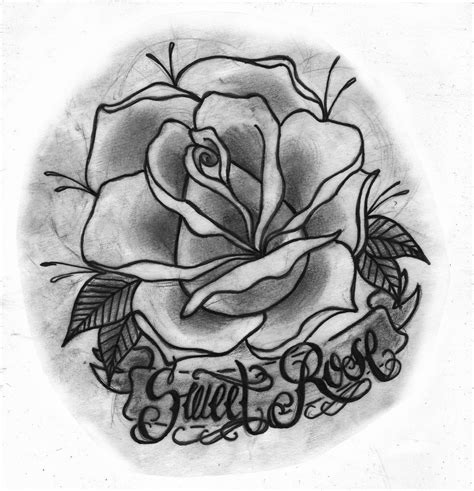 traditional rose tattoo designs traditional outlines www pixshark