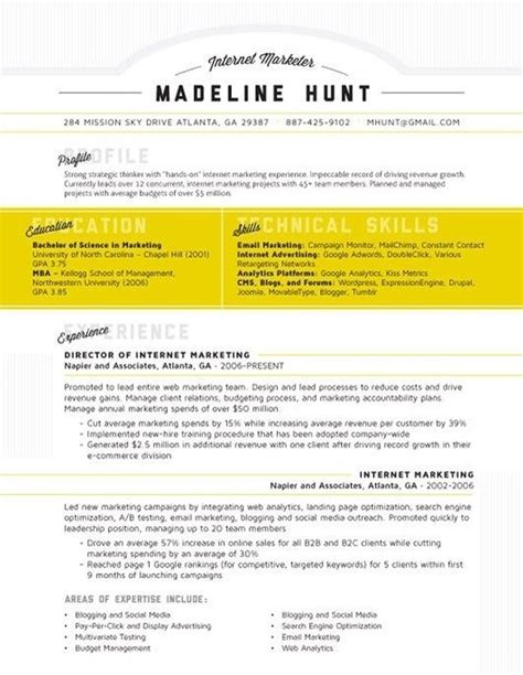 resume template ideas 27 magnificent cv designs that will outshine all the