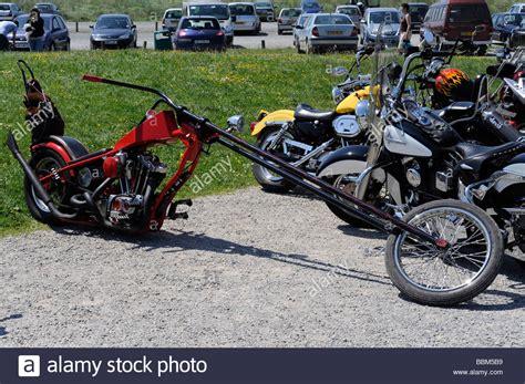 Chopper Motorrad Harley by Red Chopper Harley Davidson Stock Photo 24414861 Alamy
