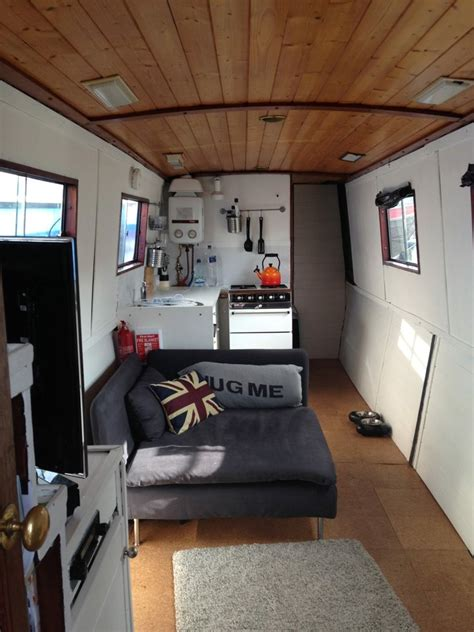 small space living   narrowboat tiny home  london