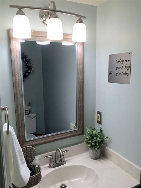 fixer bathrooms farmhouse small half bath renovation fixer bathroom