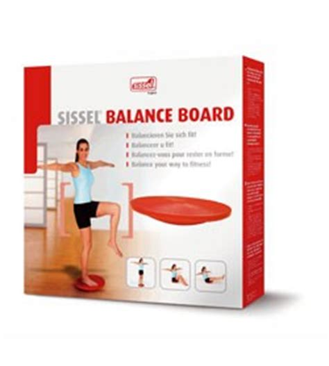 pedana propriocettiva sissel 174 balance board pedana propriocettiva colore rosso