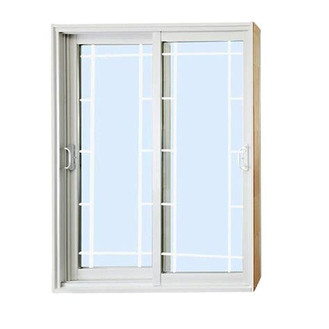 Masterpiece Patio Door Masterpiece 72 In X 80 In Composite White Right Dp50 Smooth Interior With 15 Lite Gbg