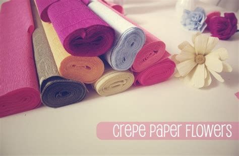 How To Make A Flower Out Of Crepe Paper - currently crafting motherhood craftiness other
