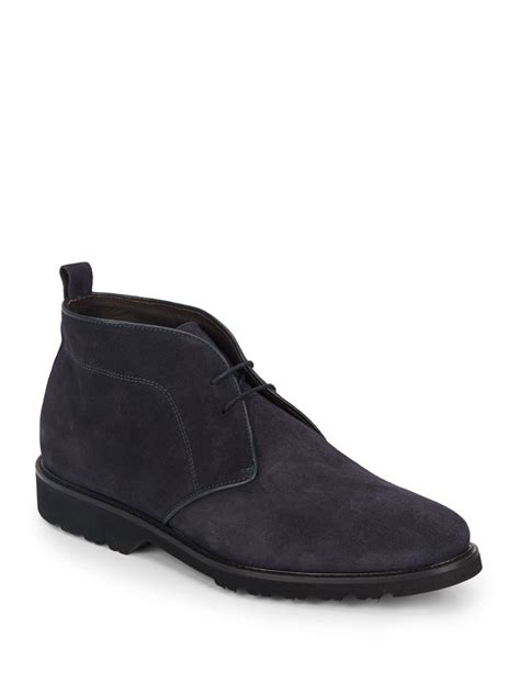 bruno magli boots lyst bruno magli wender suede chukka boots in blue for