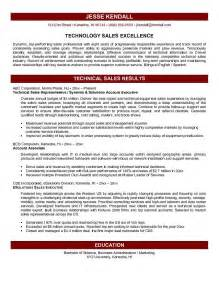 Exle Resume Application Engineer Resume For Technical Sales Technical 28 Images Sales