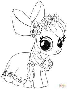 ausmalbild pony apple bloom ausmalbilder kostenlos zum ausdrucken