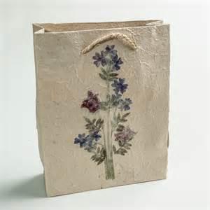handmade paper gift bag medium eternal threads