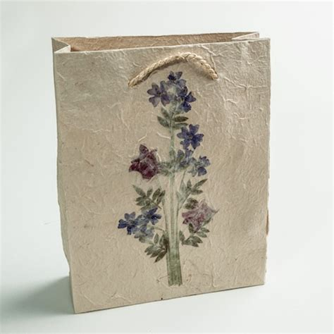 Handmade Paper Bag - handmade paper gift bag medium eternal threads