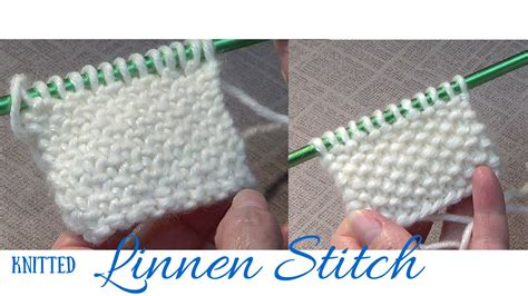 how to knit linen stitch in the knitted linen stitch