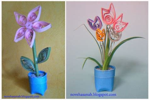 cara membuat kerajinan vas bunga cara membuat bunga dari kertas bekas